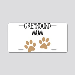 Greyhound Mom Aluminum License Plate