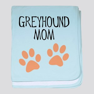 Greyhound Mom baby blanket