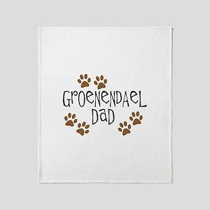 Groenendael Dad Throw Blanket