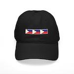 3 Philippine Flags Black Cap