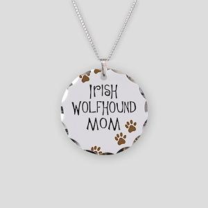Irish Wolfhound Mom Necklace Circle Charm