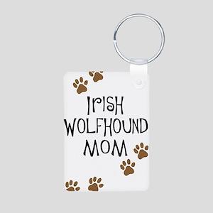 Irish Wolfhound Mom Aluminum Photo Keychain