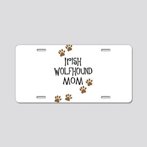 Irish Wolfhound Mom Aluminum License Plate
