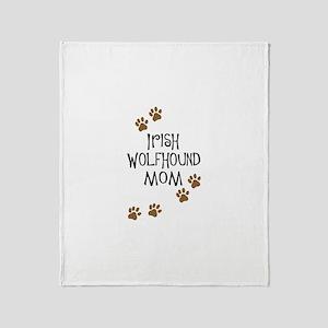Irish Wolfhound Mom Throw Blanket