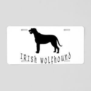 Irish Wolfhound w/ Text #2 Aluminum License Plate