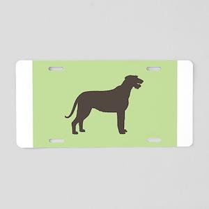 Green/Brown Irish Wolfhound Aluminum License Plate