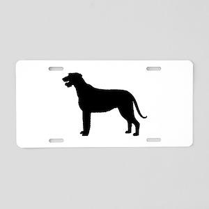 Irish Wolfhound Silhouette Aluminum License Plate