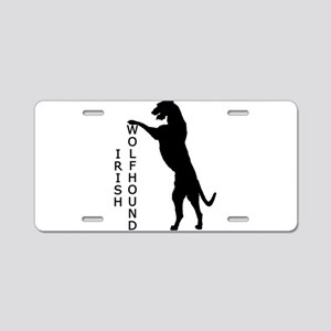 Tall Irish Wolfhound Aluminum License Plate