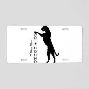 Tall Irish Wolfhound Aluminum License Plate