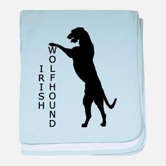 Tall Irish Wolfhound baby blanket