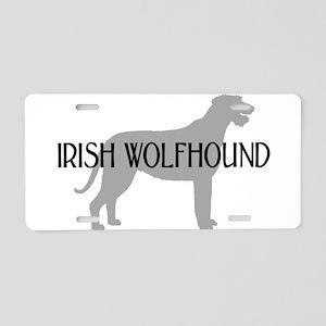 Irish Wolfhound w/ Text #3 Aluminum License Plate