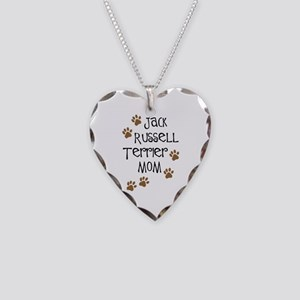 Jack Russell Terrier Mom Necklace Heart Charm