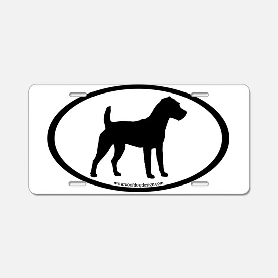 Jack Russell Oval Aluminum License Plate