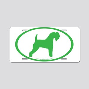 Green Kerry Blue Oval Aluminum License Plate