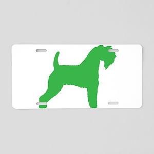 Green Kerry Blue Terrier Aluminum License Plate