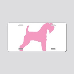 Pink Kerry Blue Terrier Aluminum License Plate