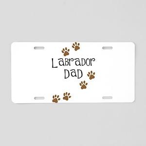 Labrador Dad Aluminum License Plate