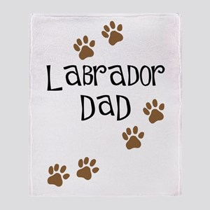 Labrador Dad Throw Blanket
