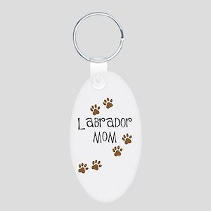 Labrador Mom Aluminum Oval Keychain