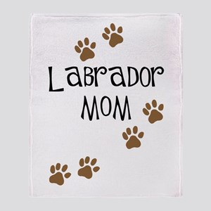 Labrador Mom Throw Blanket