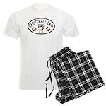 Chocolate Lab Dad Men's Light Pajamas