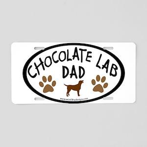 Chocolate Lab Dad Aluminum License Plate
