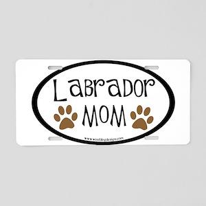 Labrador Mom Oval Aluminum License Plate