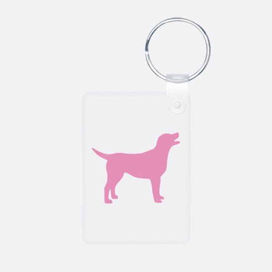 pink labrador retriever Keychains