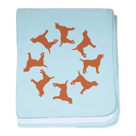 Chocolate Lab Circle baby blanket