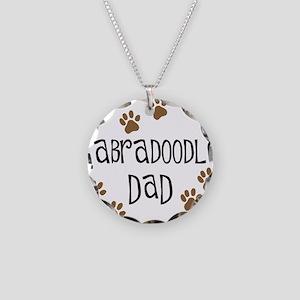 Labradoodle Dad Necklace Circle Charm