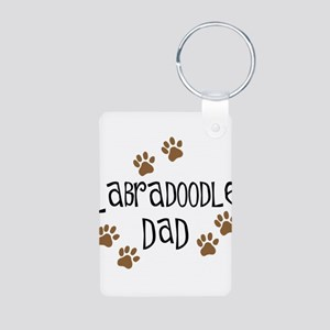 Labradoodle Dad Aluminum Photo Keychain