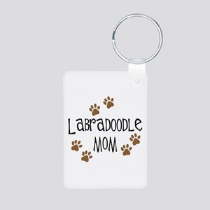 Labradoodle Mom Aluminum Photo Keychain