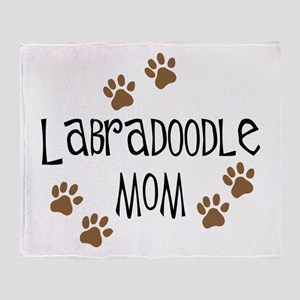 Labradoodle Mom Throw Blanket
