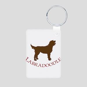 Labradoodle Dog Aluminum Photo Keychain