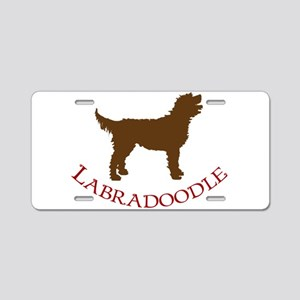 Labradoodle Dog Aluminum License Plate