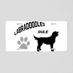 Labradoodles Rule Aluminum License Plate