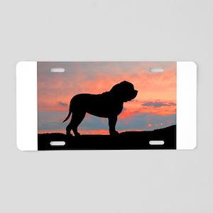 Mastiff Sunset Aluminum License Plate