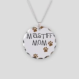 Mastiff Mom Necklace Circle Charm