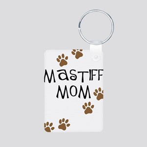 Mastiff Mom Aluminum Photo Keychain
