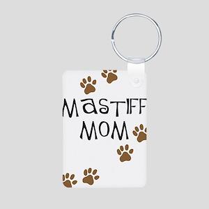 Mastiff Mom Aluminum Photo Keychain