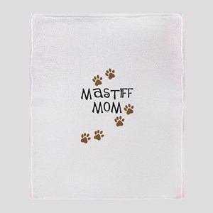 Mastiff Mom Throw Blanket