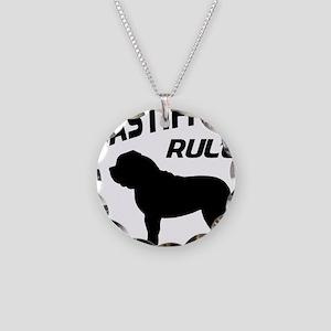 Mastiffs Rule Necklace Circle Charm