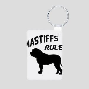 Mastiffs Rule Aluminum Photo Keychain