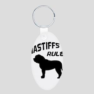Mastiffs Rule Aluminum Oval Keychain