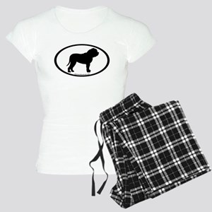Oval Border Mastiff Dog Women's Light Pajamas