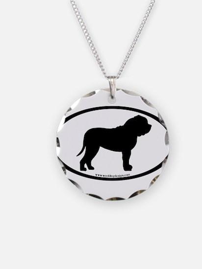 Oval Border Mastiff Dog Necklace