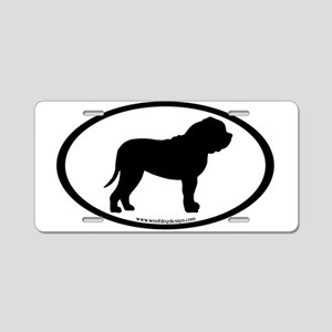 Oval Border Mastiff Dog Aluminum License Plate