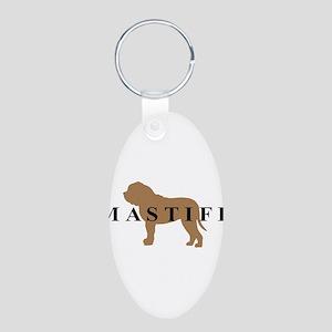Mastiff Dog Breed Aluminum Oval Keychain