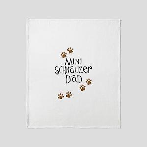 Mini Schnauzer Dad Throw Blanket