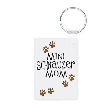 Mini Schnauzer Mom Aluminum Photo Keychain